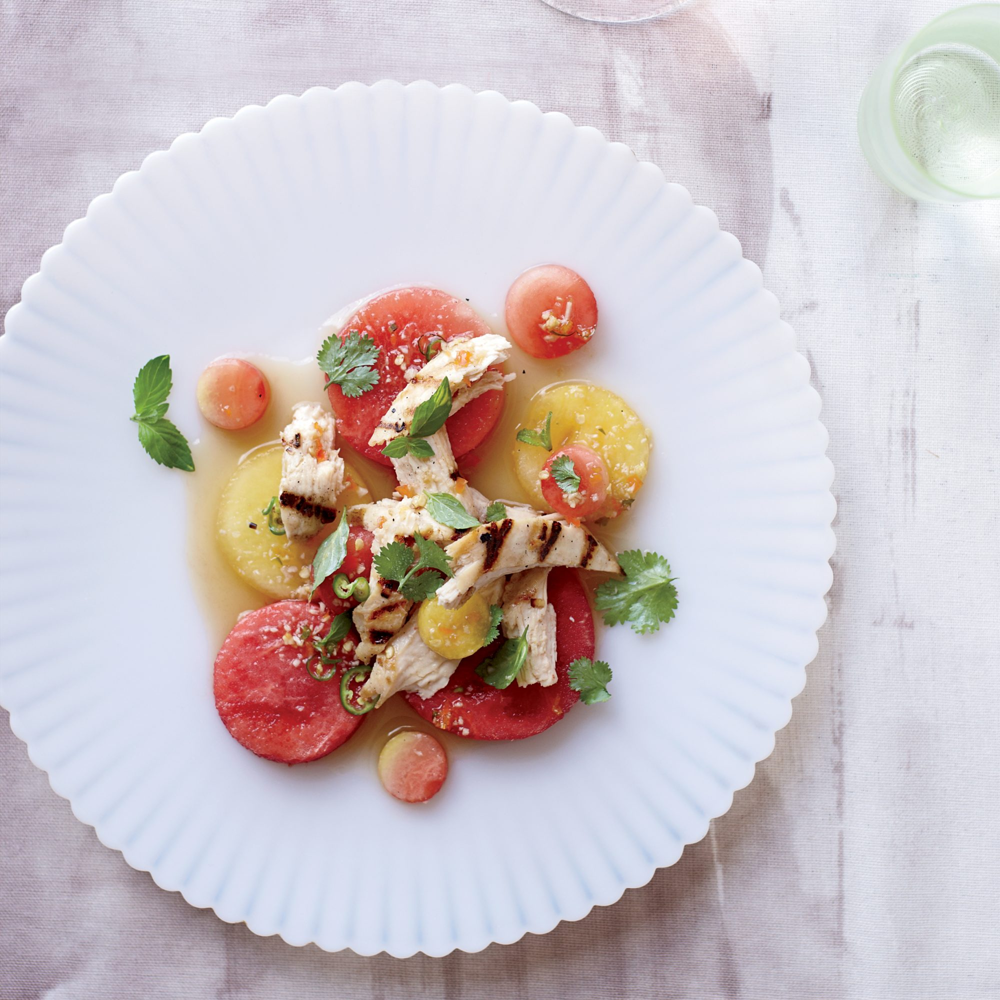 Summer Party Food: Thai Chicken and Watermelon Salad