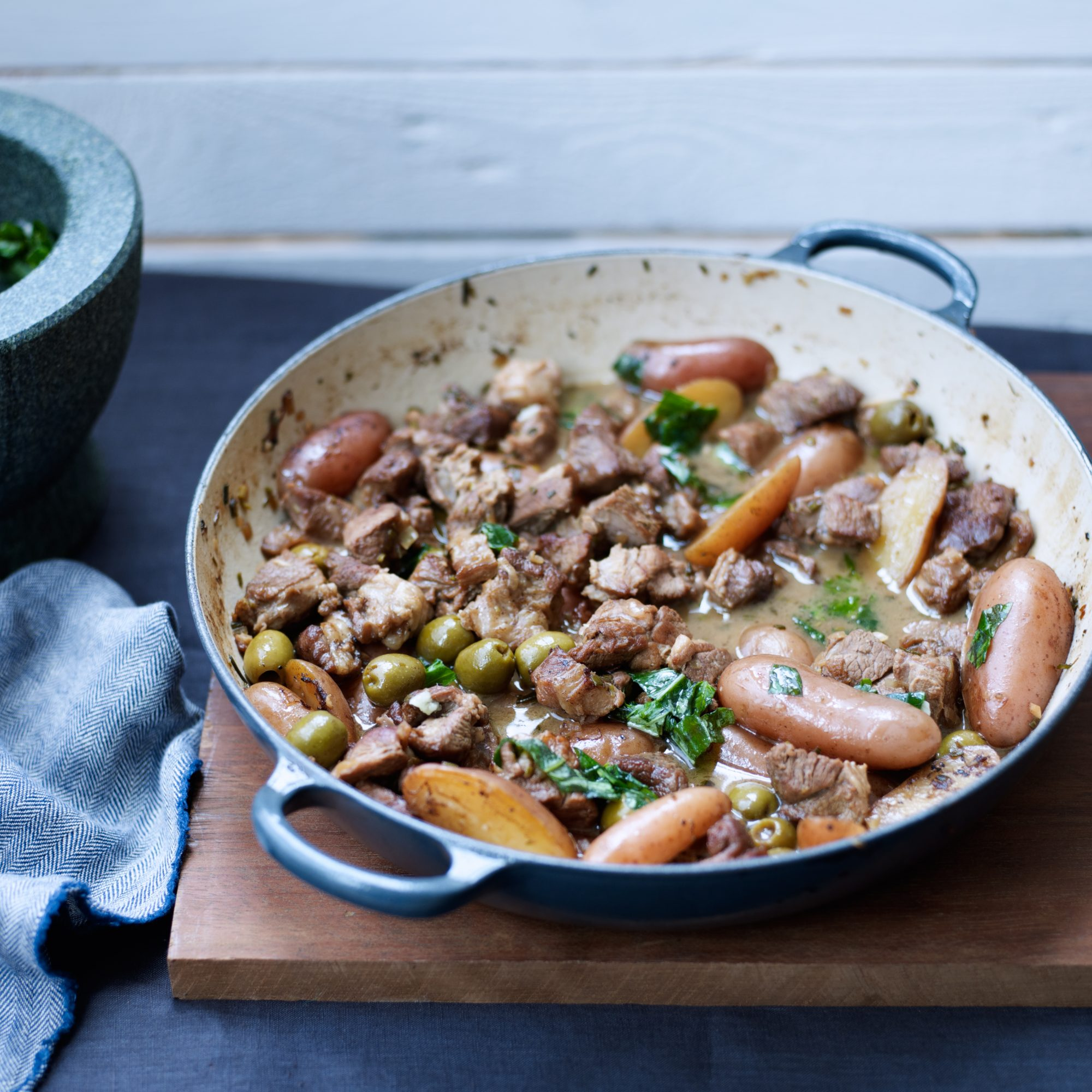 Provencal Lamb Stew with Basil