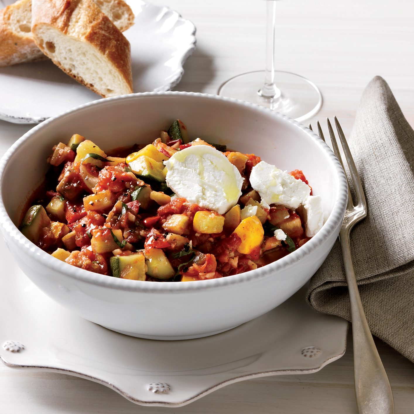 Speedy Ratatouille with Goat Cheese recipe