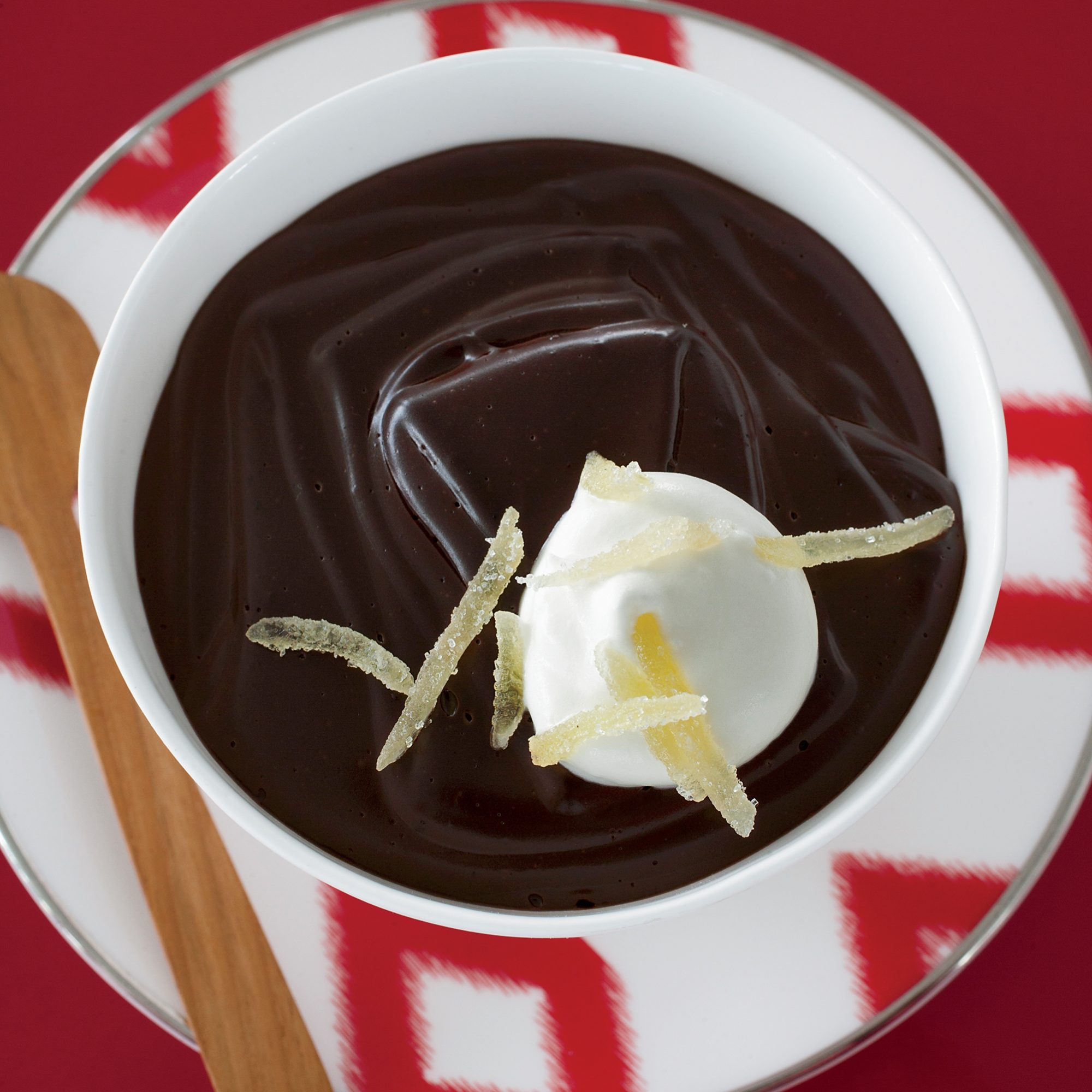 Dark-Chocolate Pudding with Candied Ginger Recipe - Jean ...