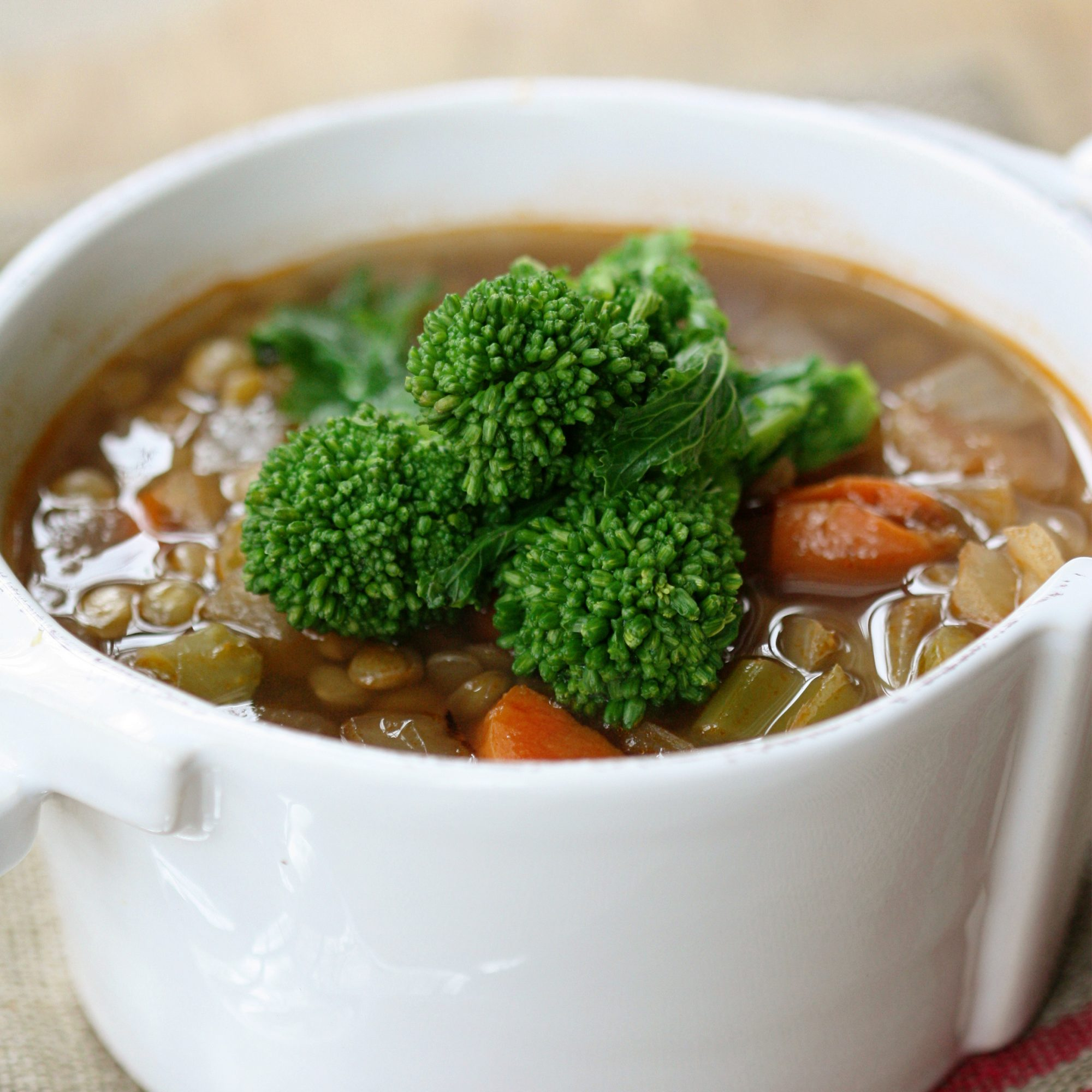 Lentil Soup with Broccoli Rabe