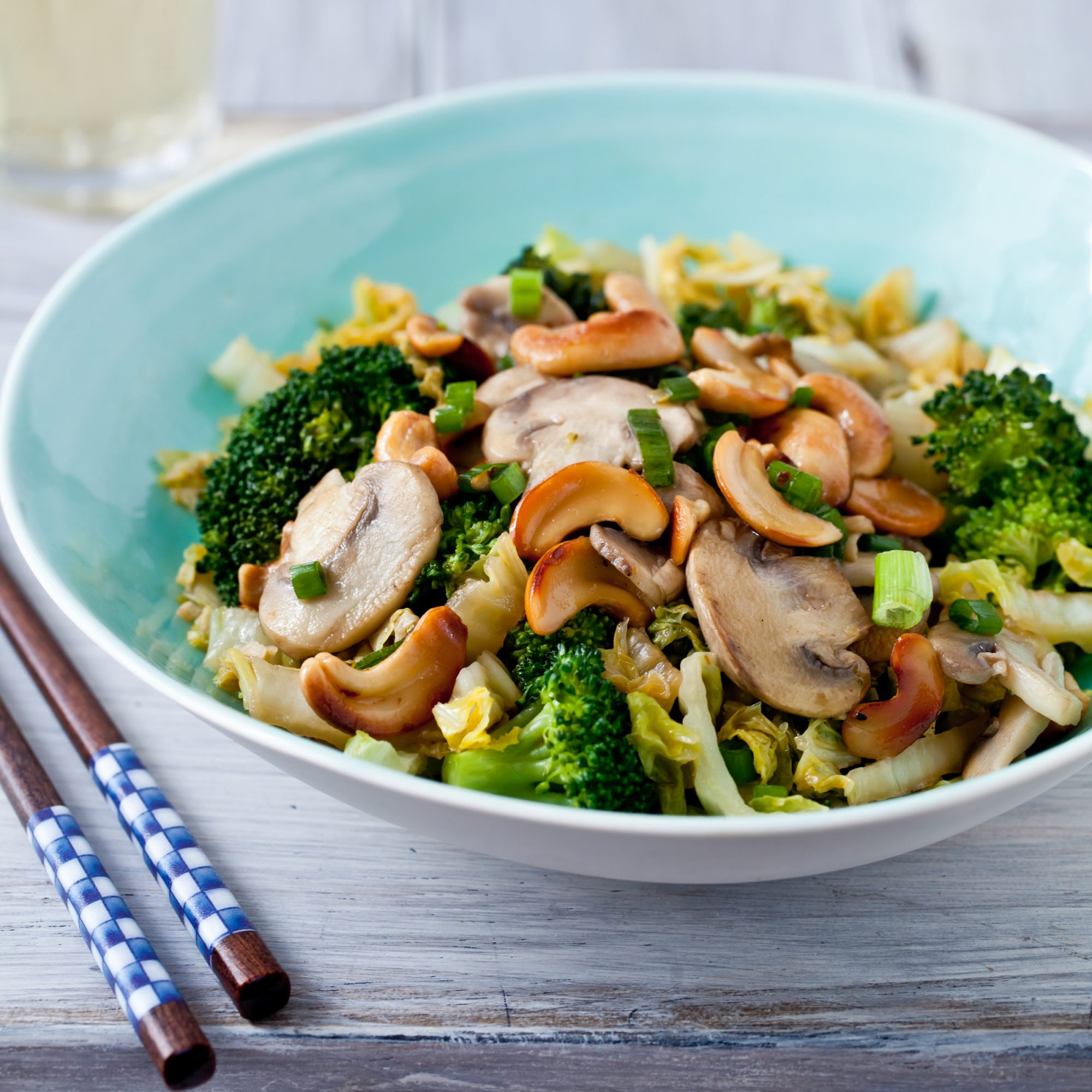 Stir-Fried Vegetables with Toasted Cashews Recipe - Quick ...