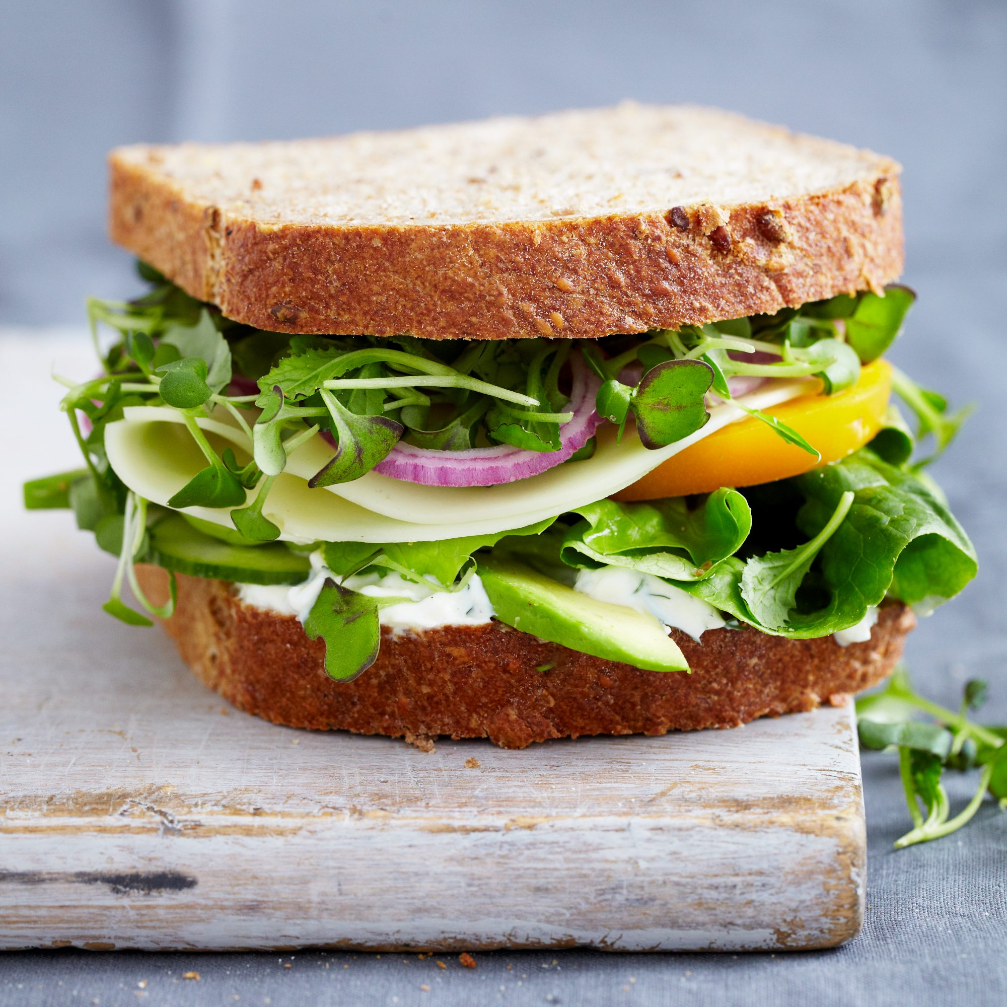 Vegetable Sandwich with Dill Sauce