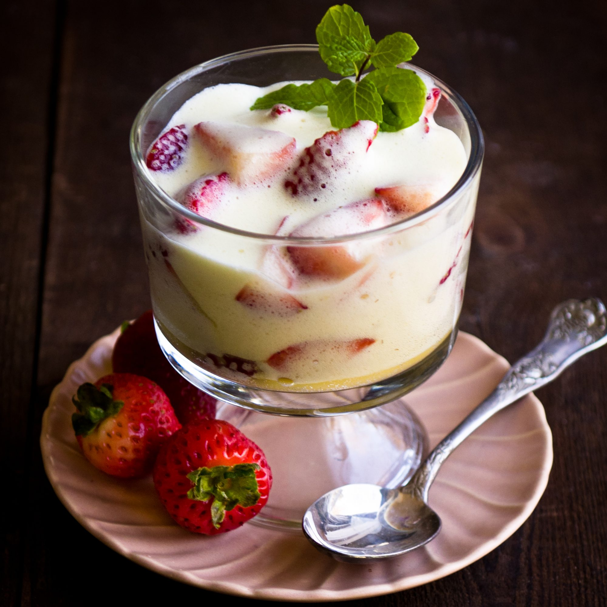 Day 9: Zabaglione with Strawberries
