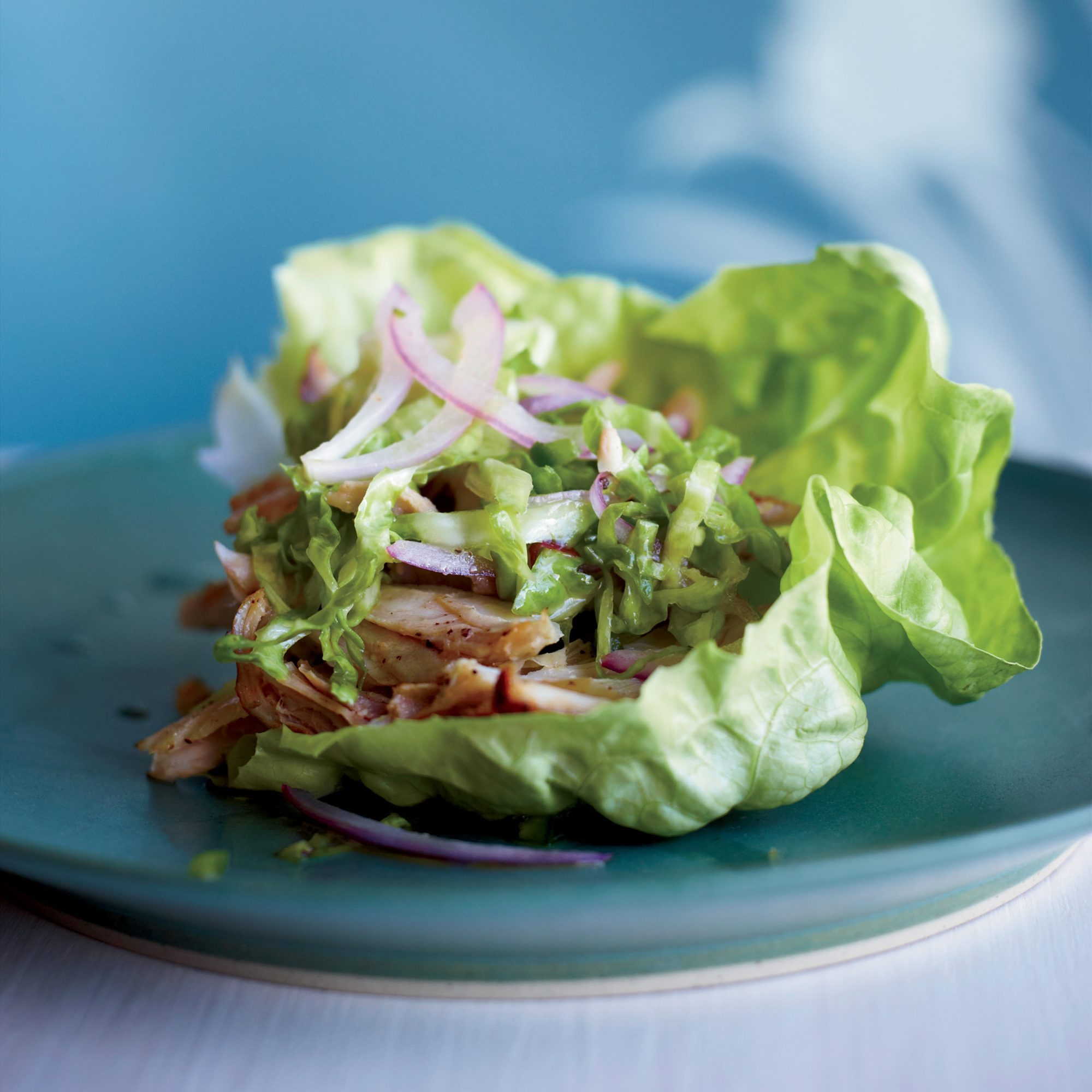 Latin-Spiced Chicken in Lettuce Cups