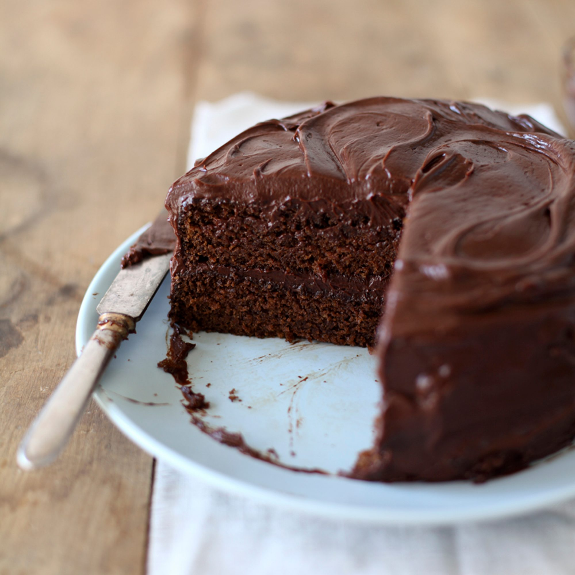 Moist Chocolate Cake With Mocha Frosting