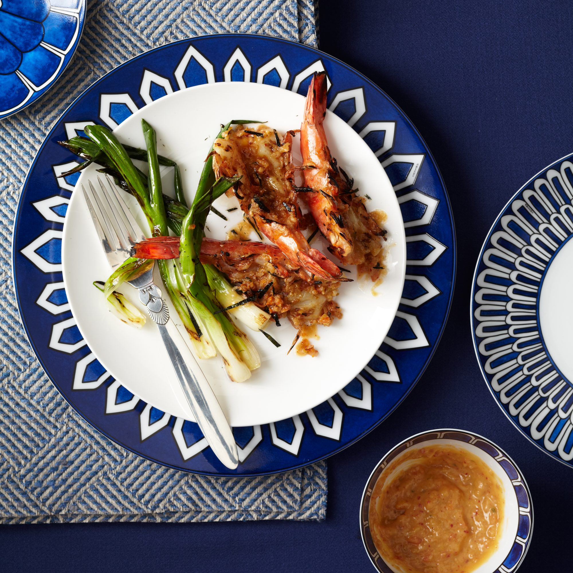 Grilled Jumbo Shrimp with Kimchi-Miso Butter Recipe