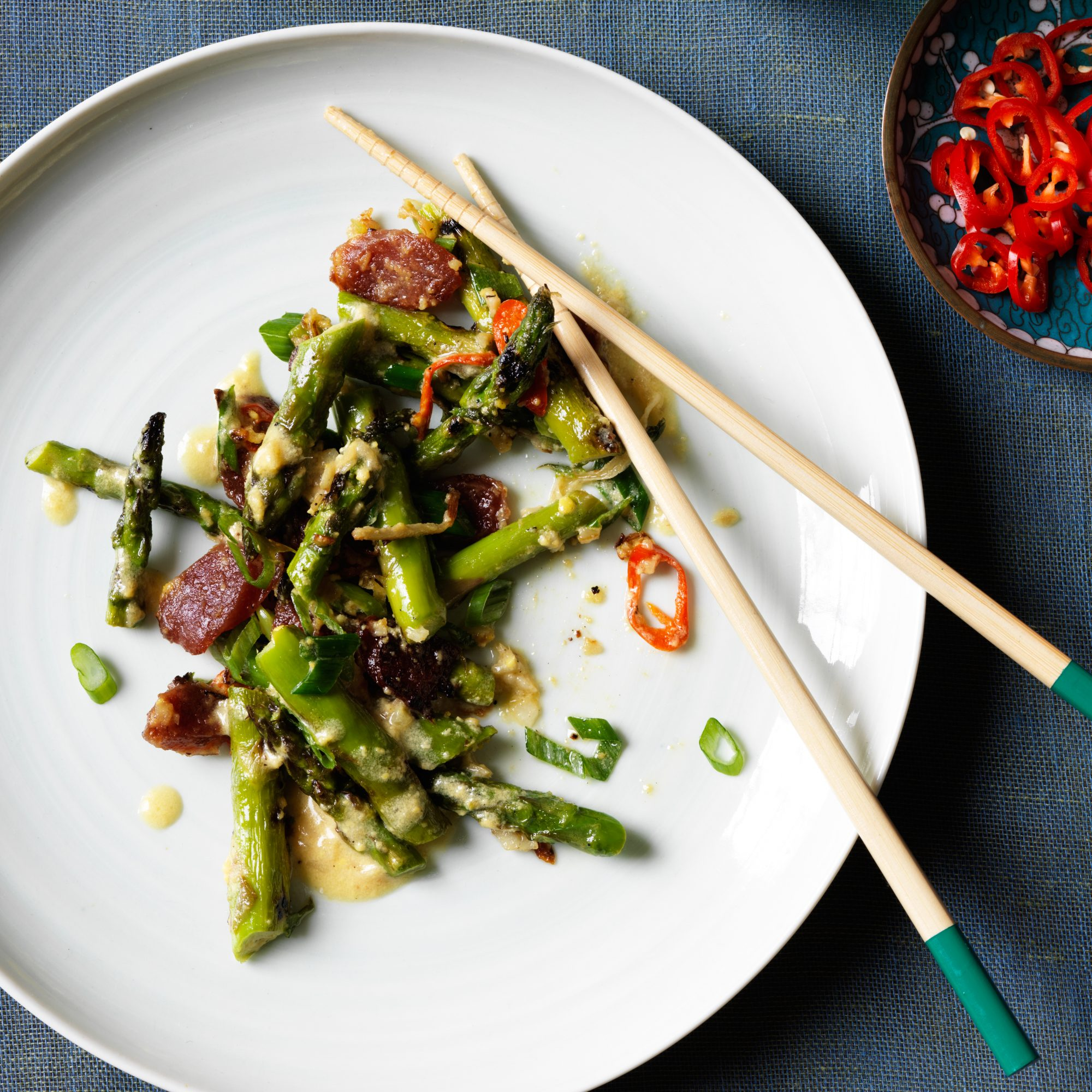 Spring Recipes: Singaporean Sautéed Asparagus with Ginger