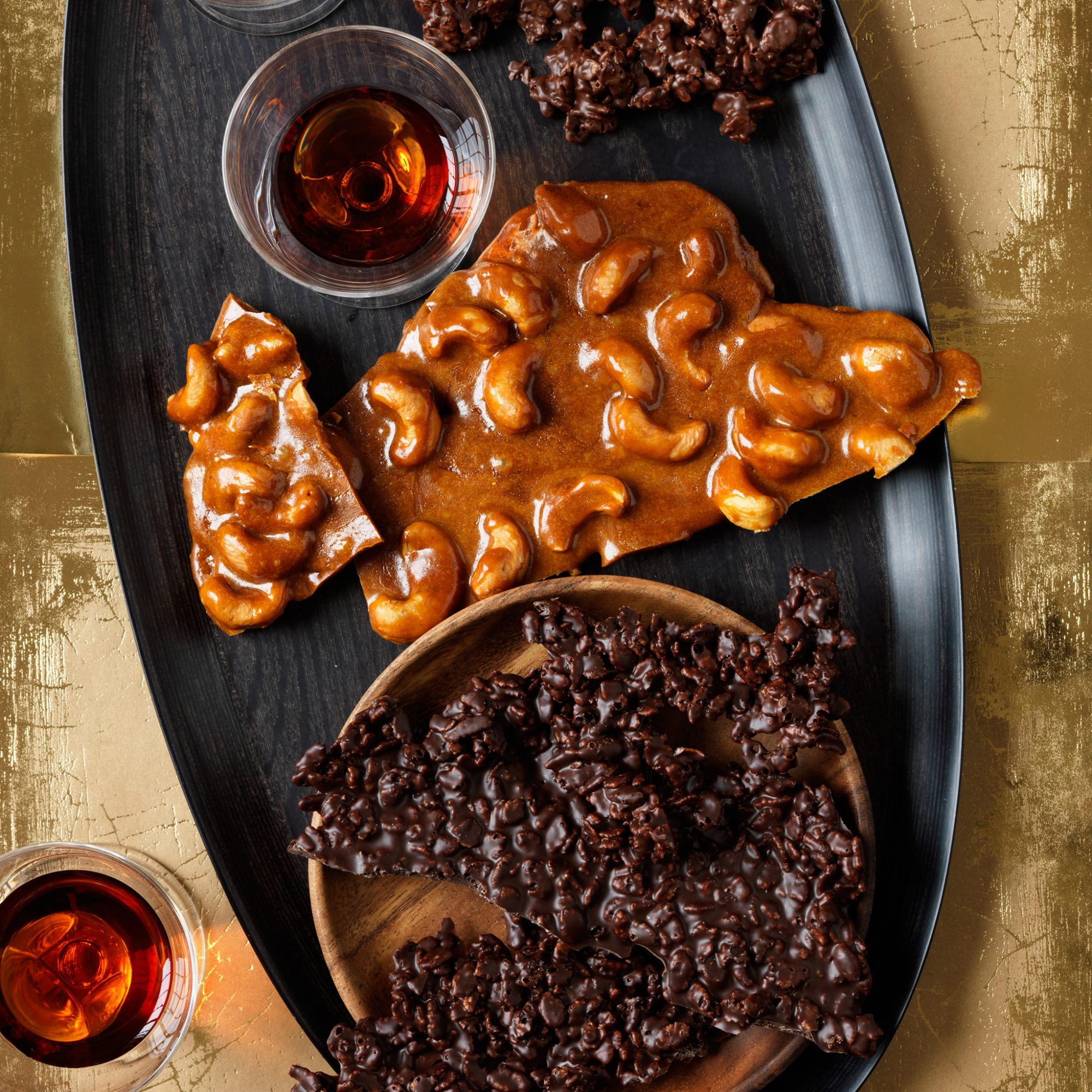 Spiced Cashew Brittle and Chocolate Crunch Bark Recipe | Food & Wine