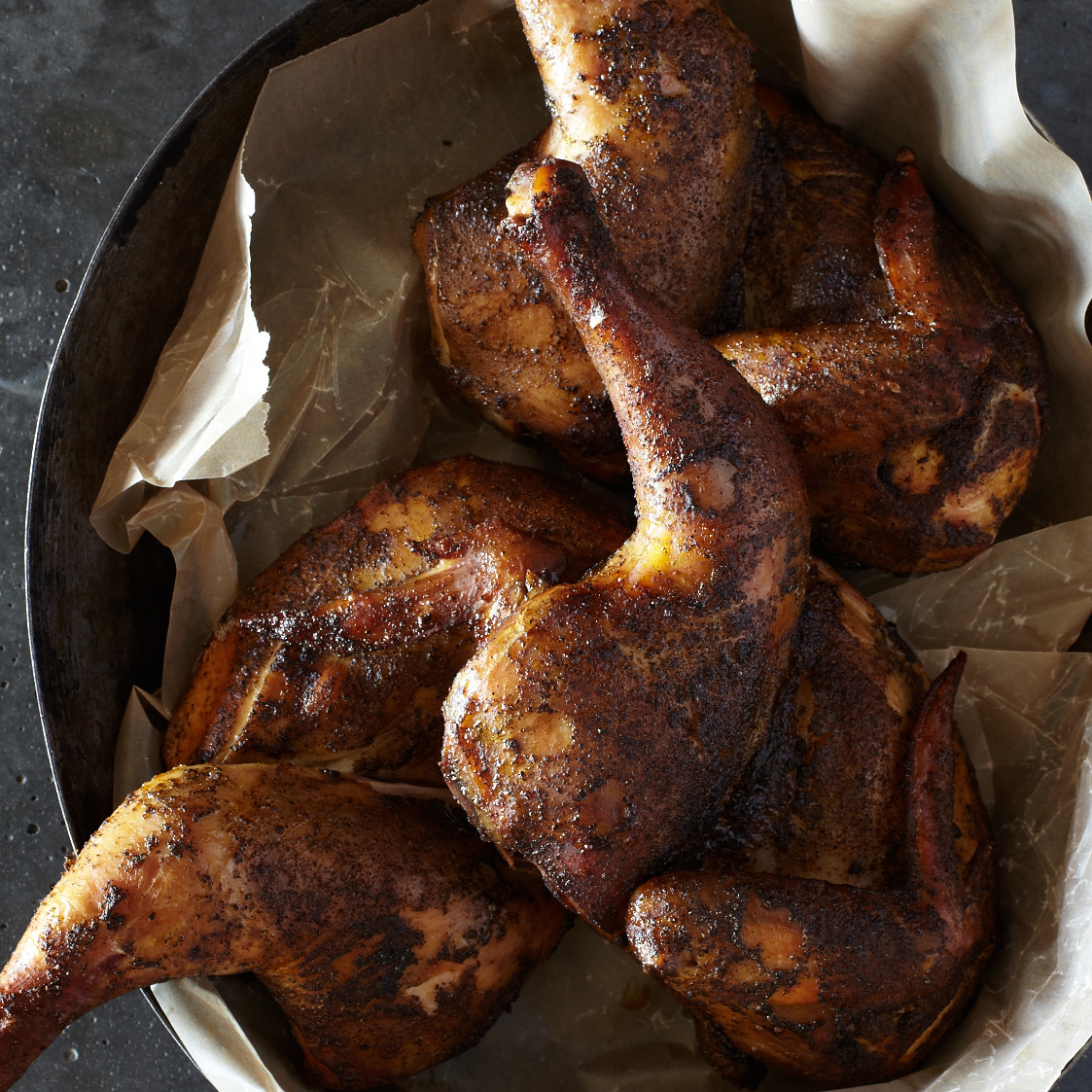 Lemon-Brined Smoked Chickens