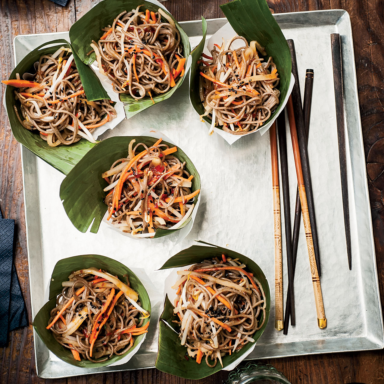 Cold Soba Salad with Dried Shiitake Dressing
