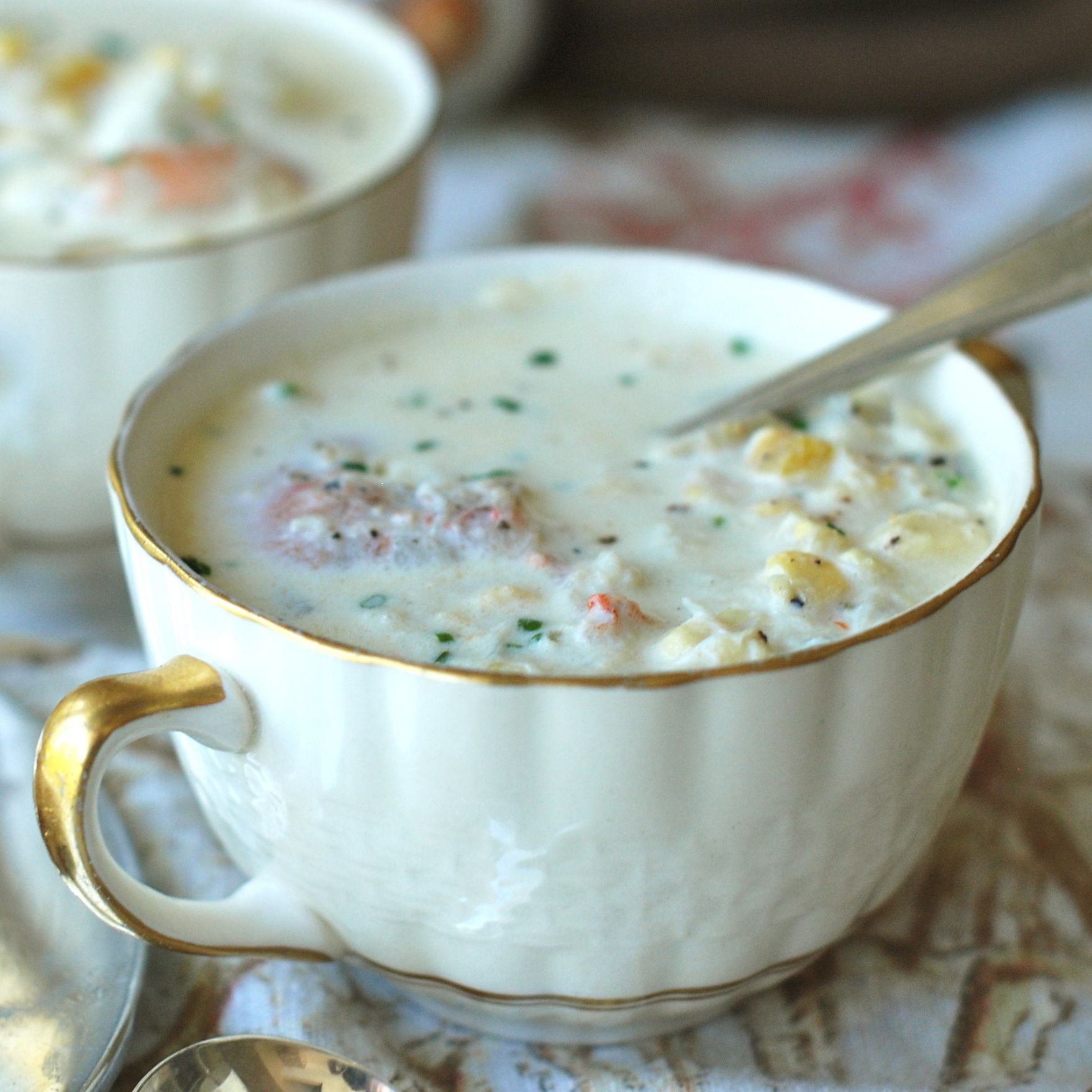 Corn, Crab and Shrimp Chowder