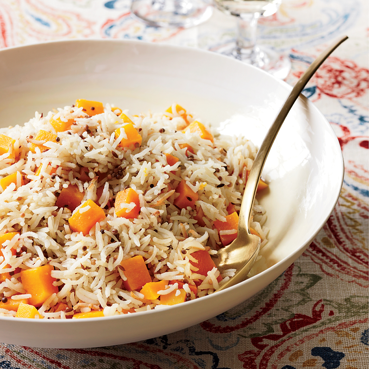 Fall Produce: Butternut Squash Basmati Rice