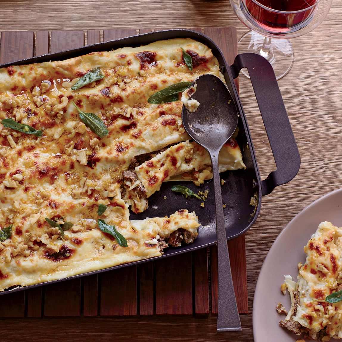 Cannelloni with Walnuts and Fried Sage Recipe