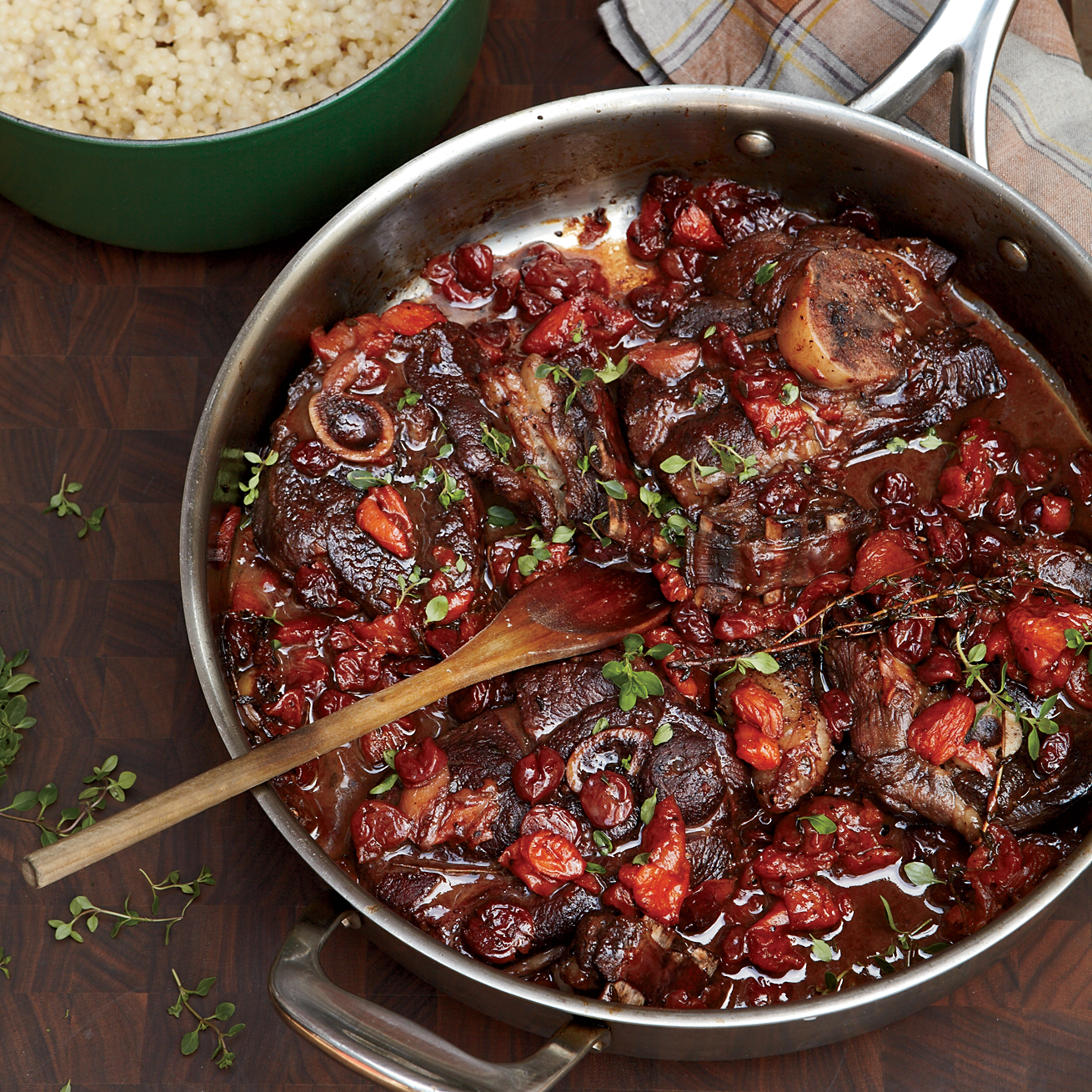 Zinfandel-Braised Lamb Chops With Dried Fruit Recipe