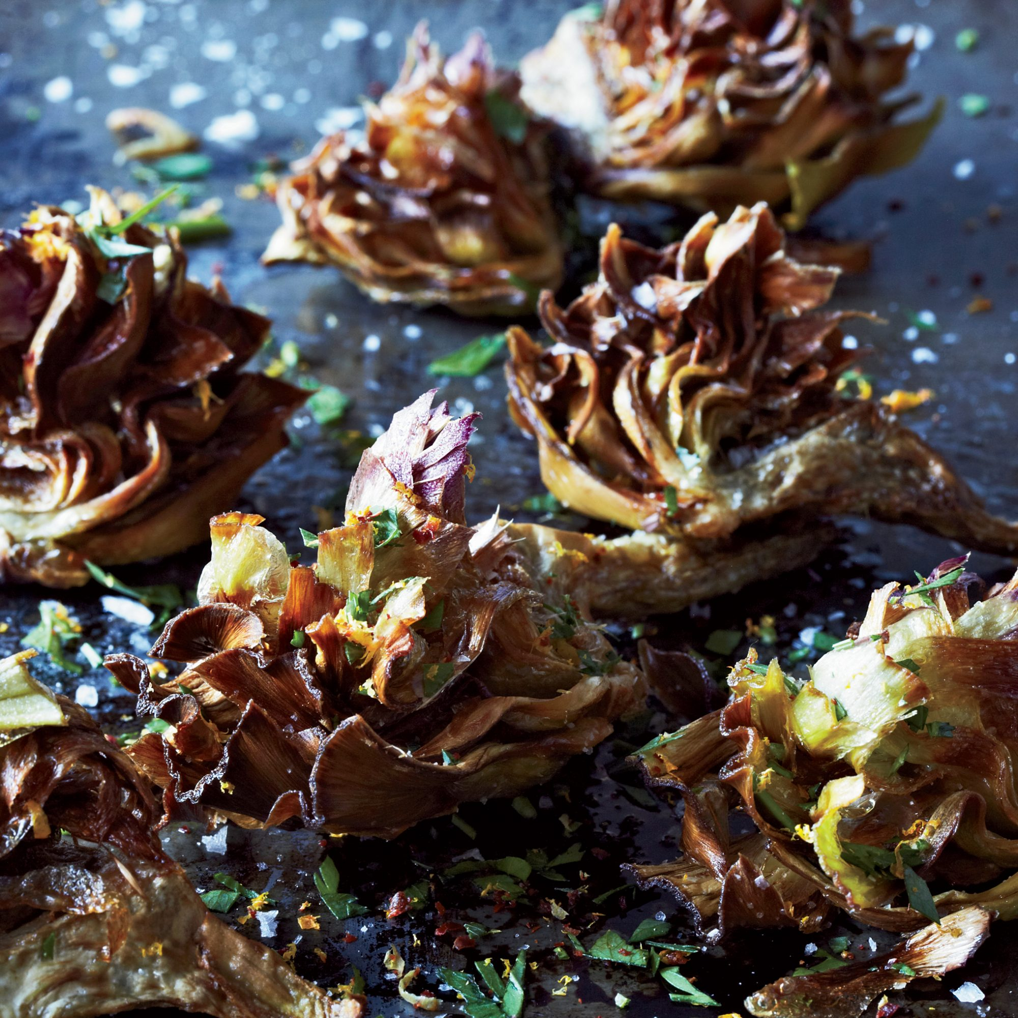 <p>Fried Artichokes with Citrus & Parsley</p>