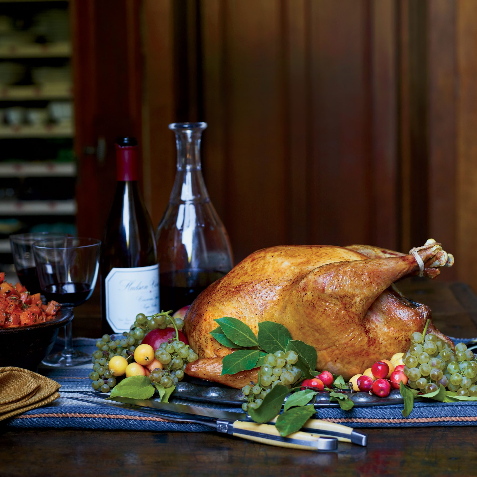 Holiday Pairing: Herb-Roasted Turkey with Wild Mushroom Gravy and Syrah