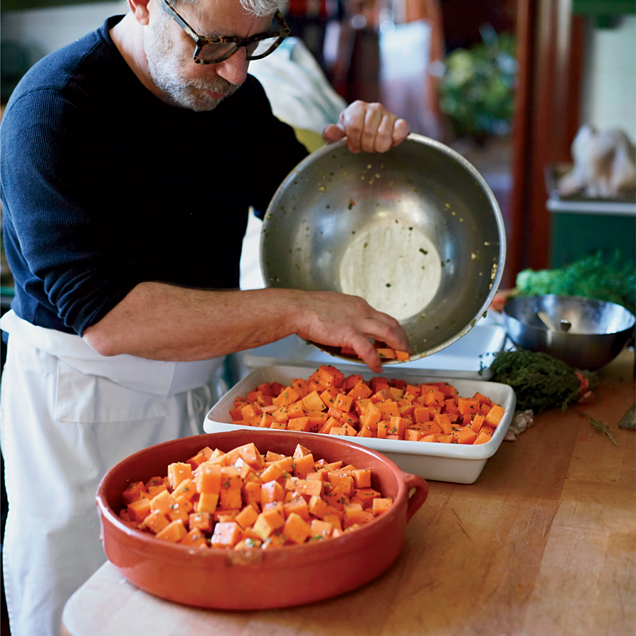 Roasted Winter Squash with Herbs and Garlic