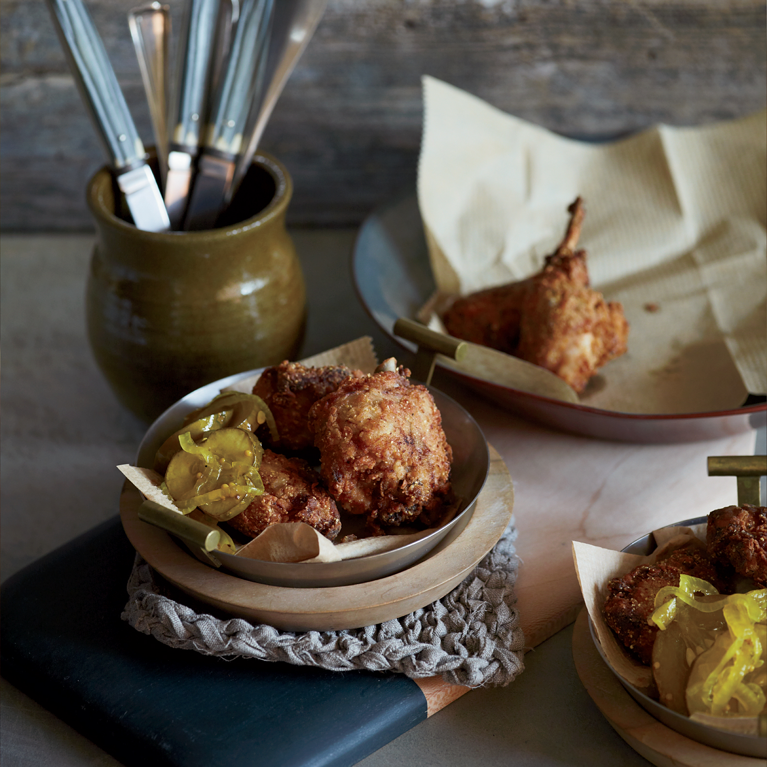 Cornmeal-Crusted Chicken-Fried Rabbit