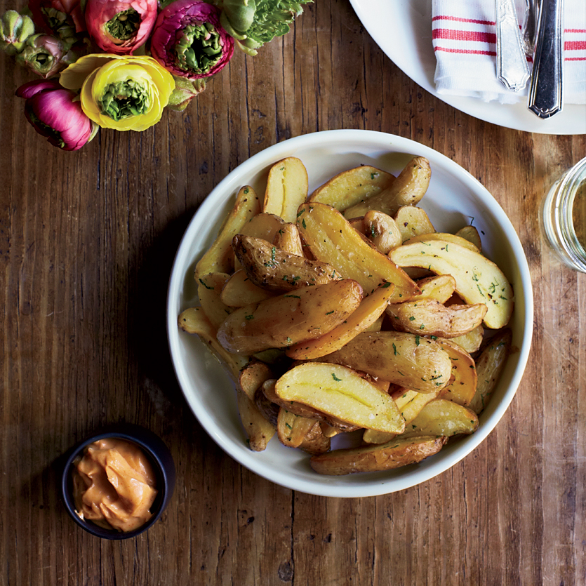 Fingerling Papas Bravas with Smoky Aioli