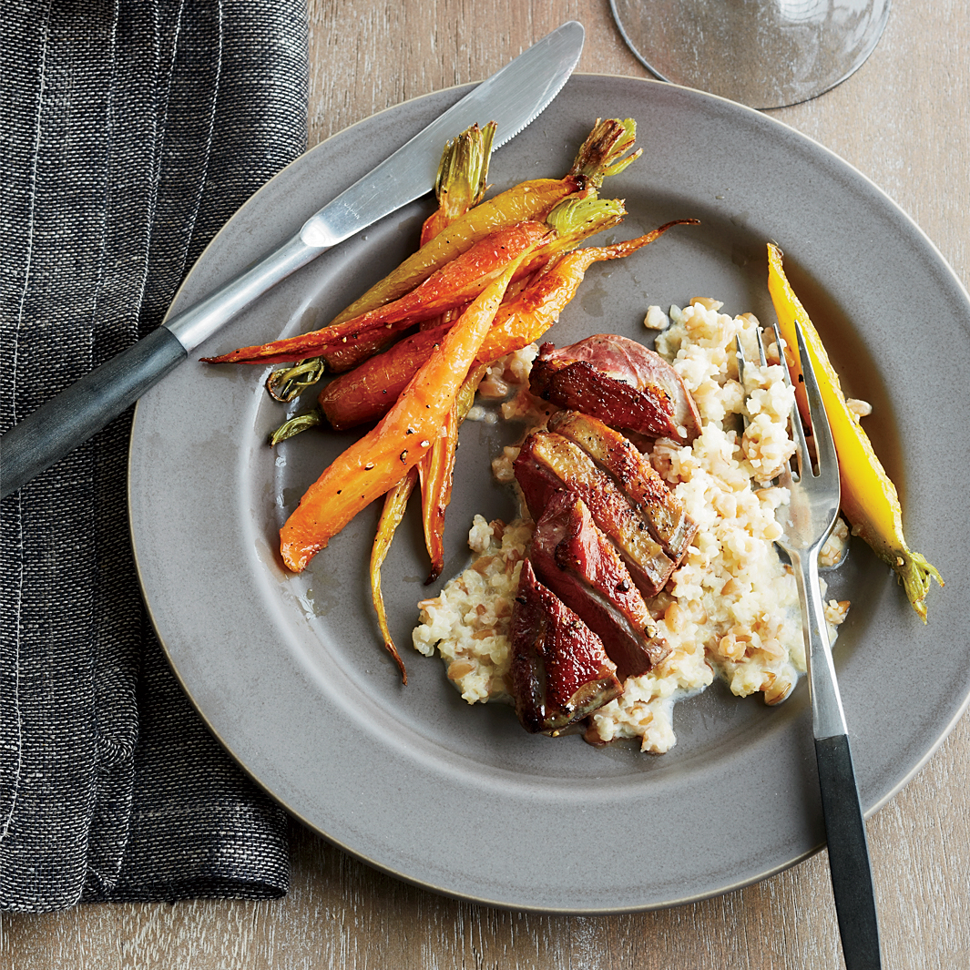 Roast Squab Breast with Two-Grain Porridge