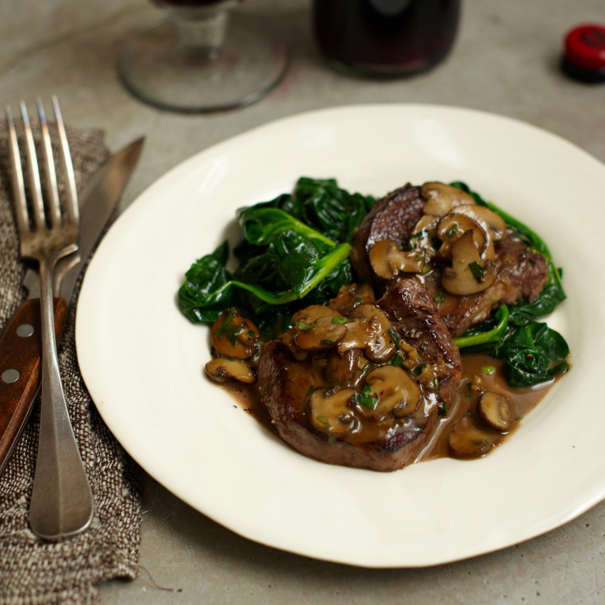 Steak Diane Recipe - Emeril Lagasse | Food & Wine