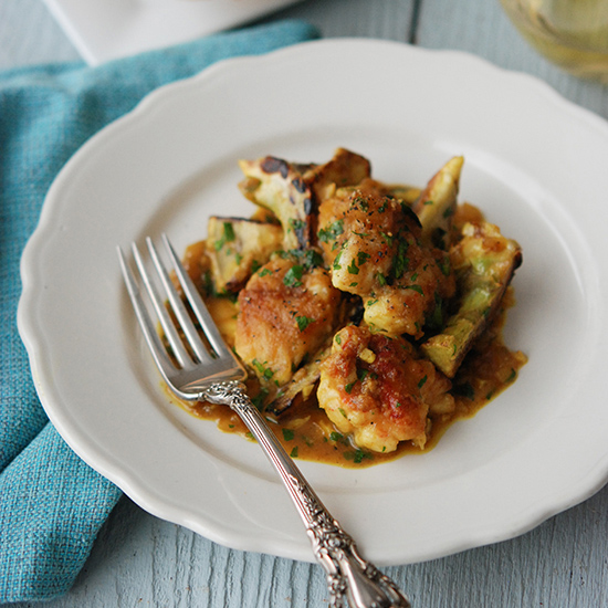 <p>Lobster with Artichokes and Curry</p>