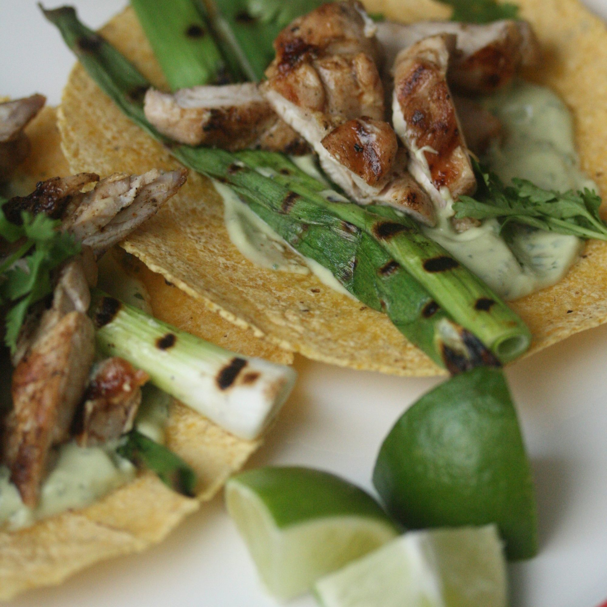 Lime-Marinated Chicken Tacos with Grilled Scallions and ...