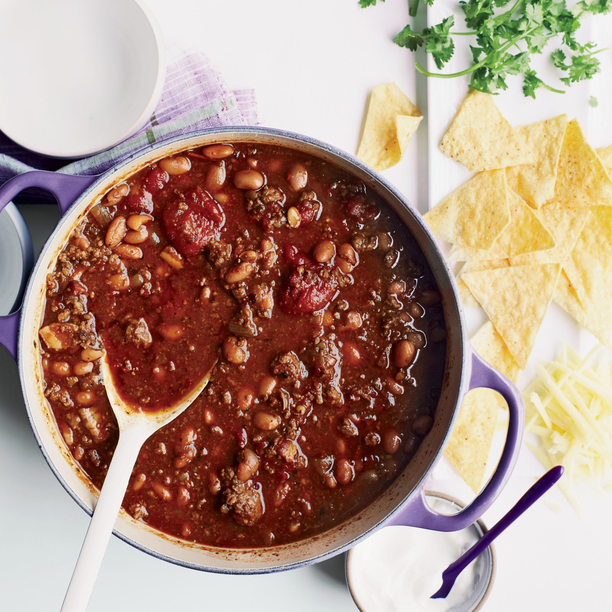 Three-Chile Beef Chili Recipe