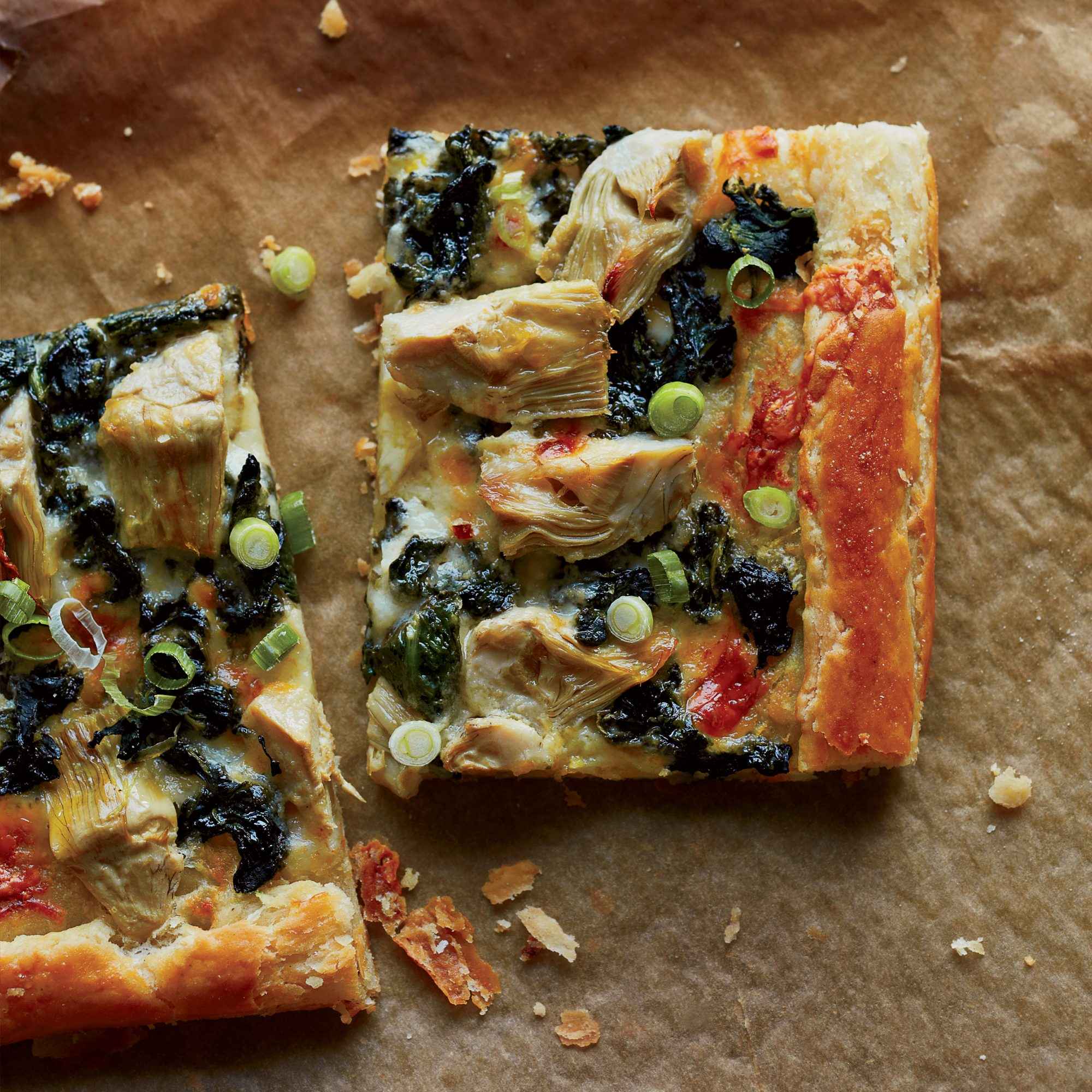 <p>Spinach-and-Artichoke Galette</p>
