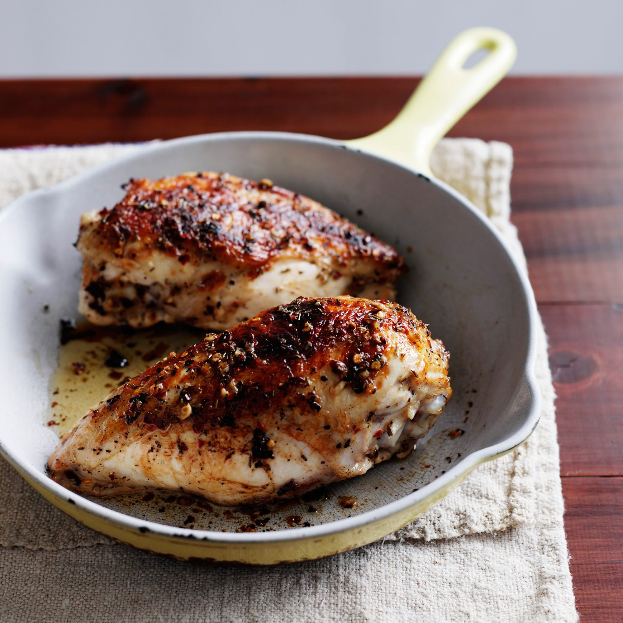 Grilled Chicken Breasts With Lemon And Thyme Recipe