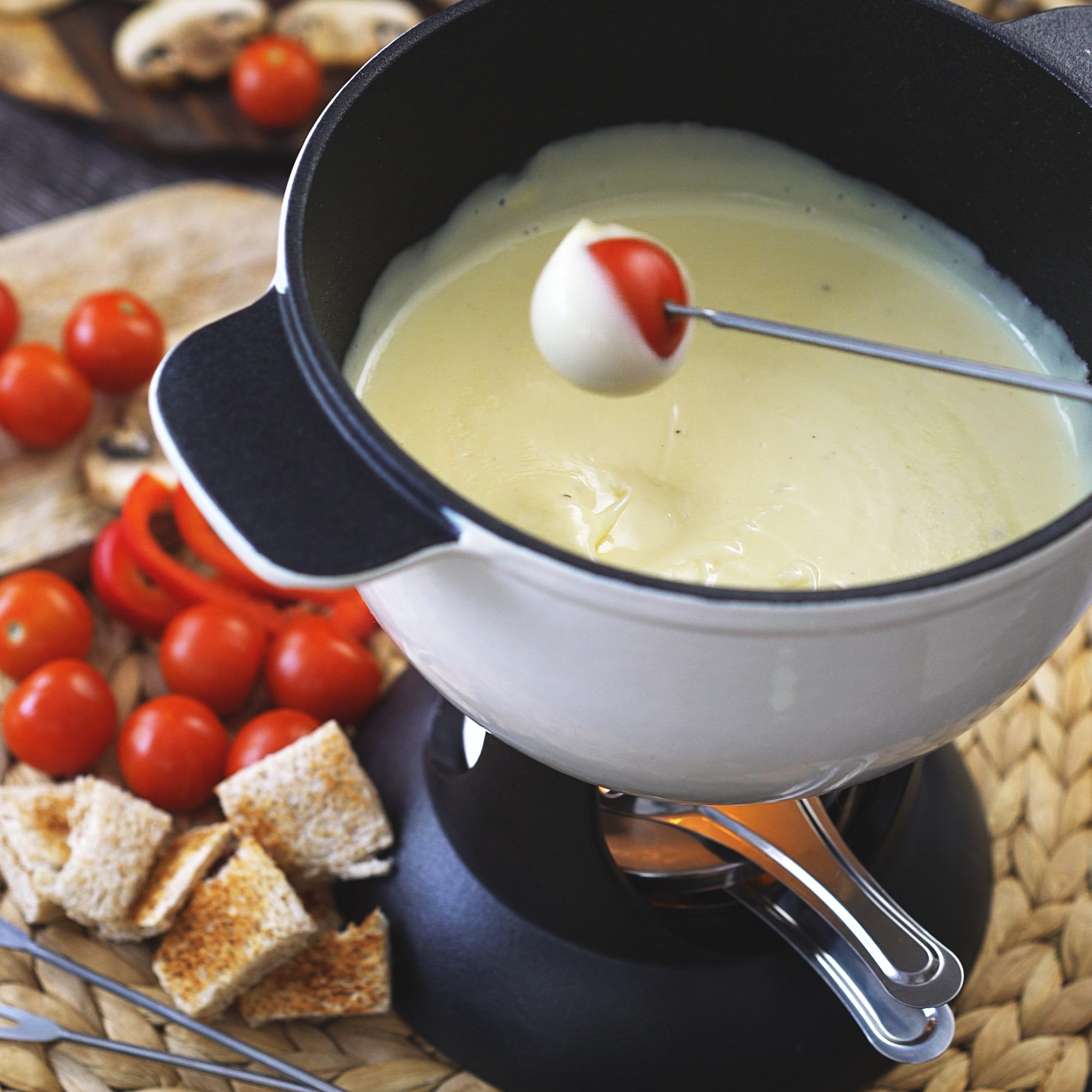 Classic Swiss Cheese Fondue Recipe - Melissa Kelly | Food ...
