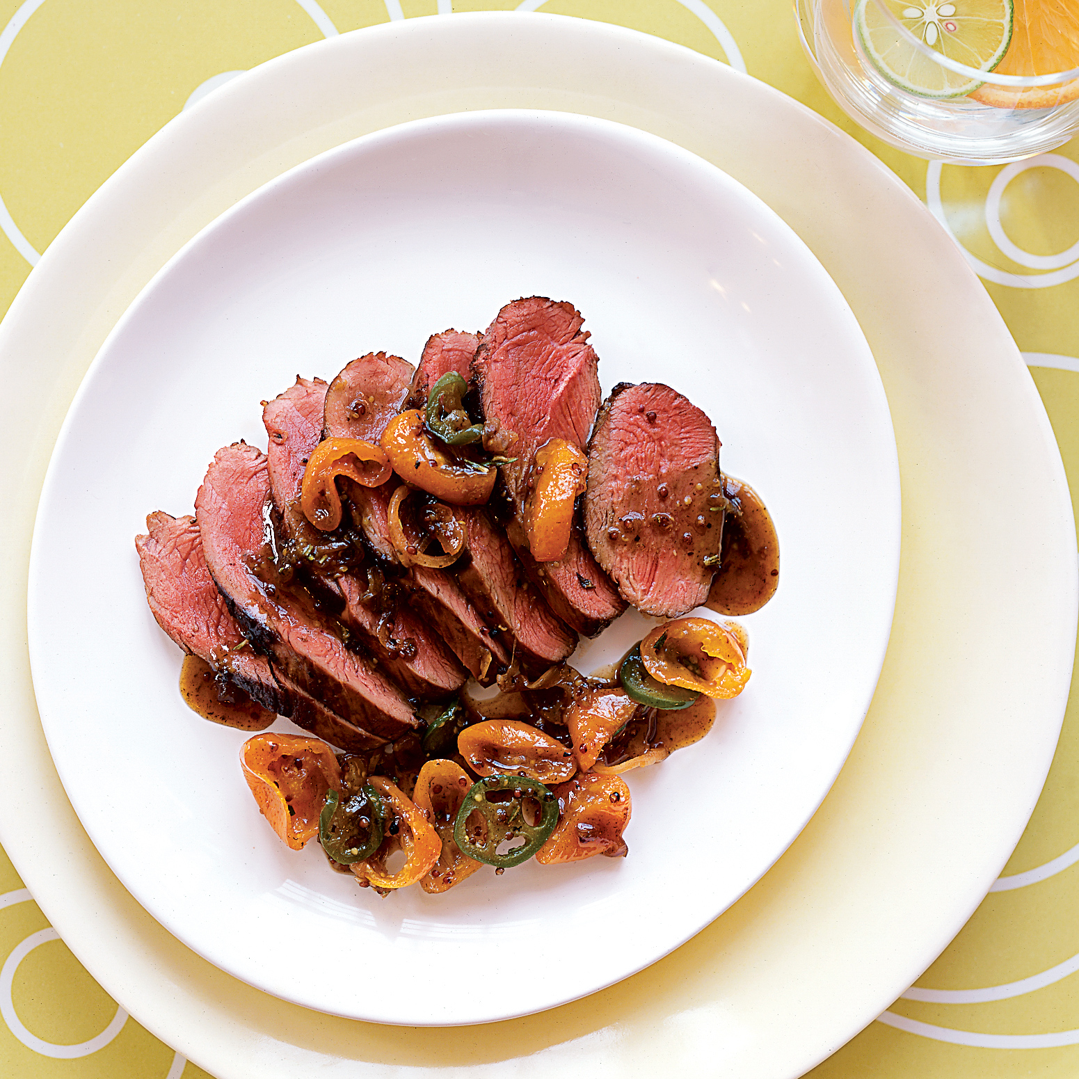 Duck Breasts with Mustard and Candied Kumquats