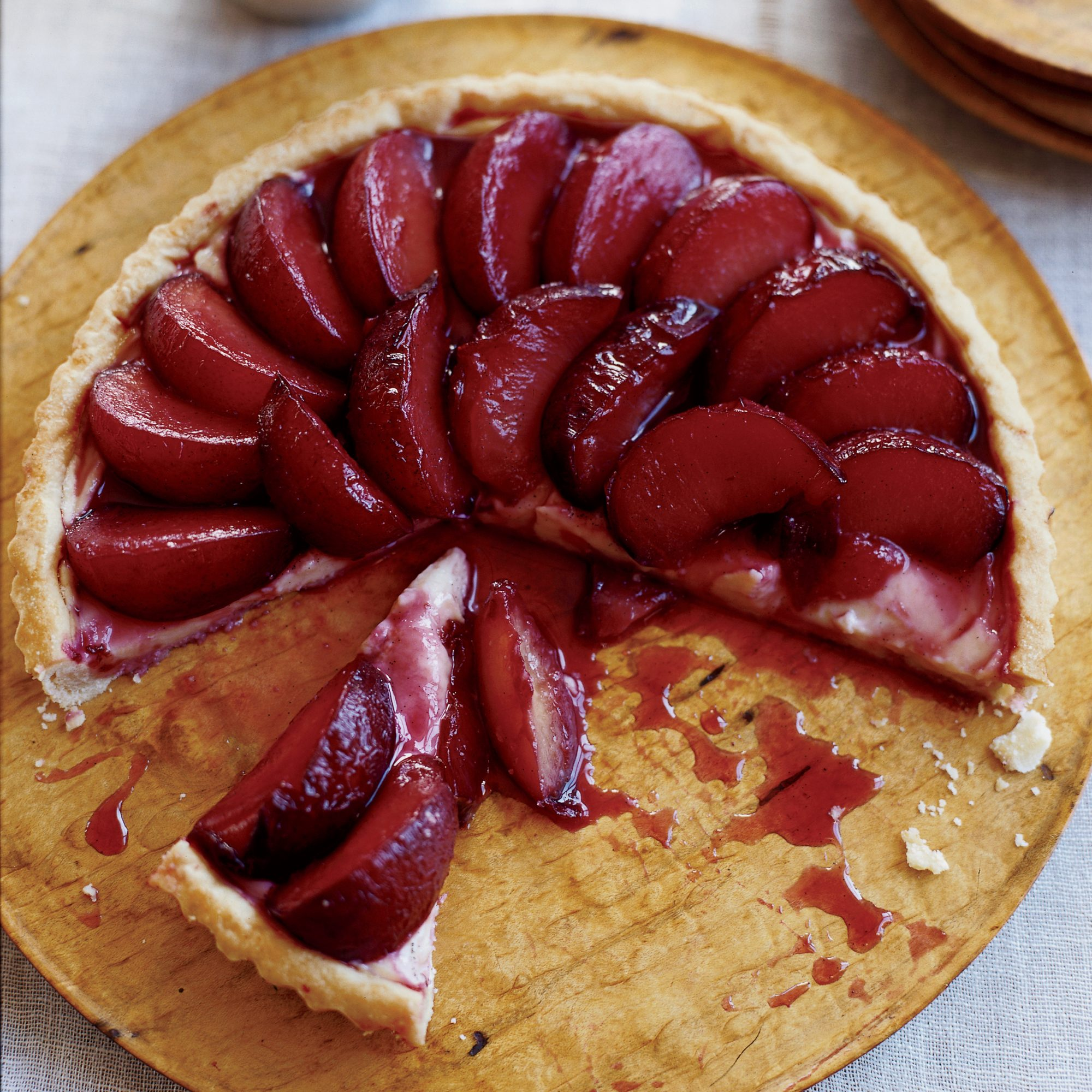 Summer Produce Guide: Poached Plum Tart