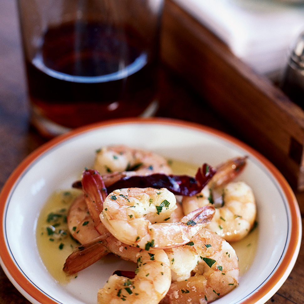 Garlicky Shrimp with Olive Oil