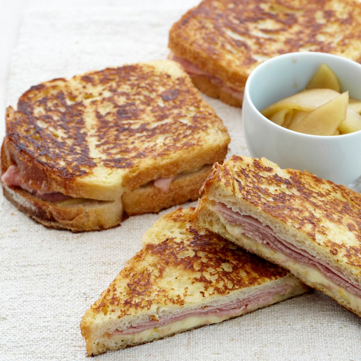 Ham and Gruyère French Toast Sandwiches