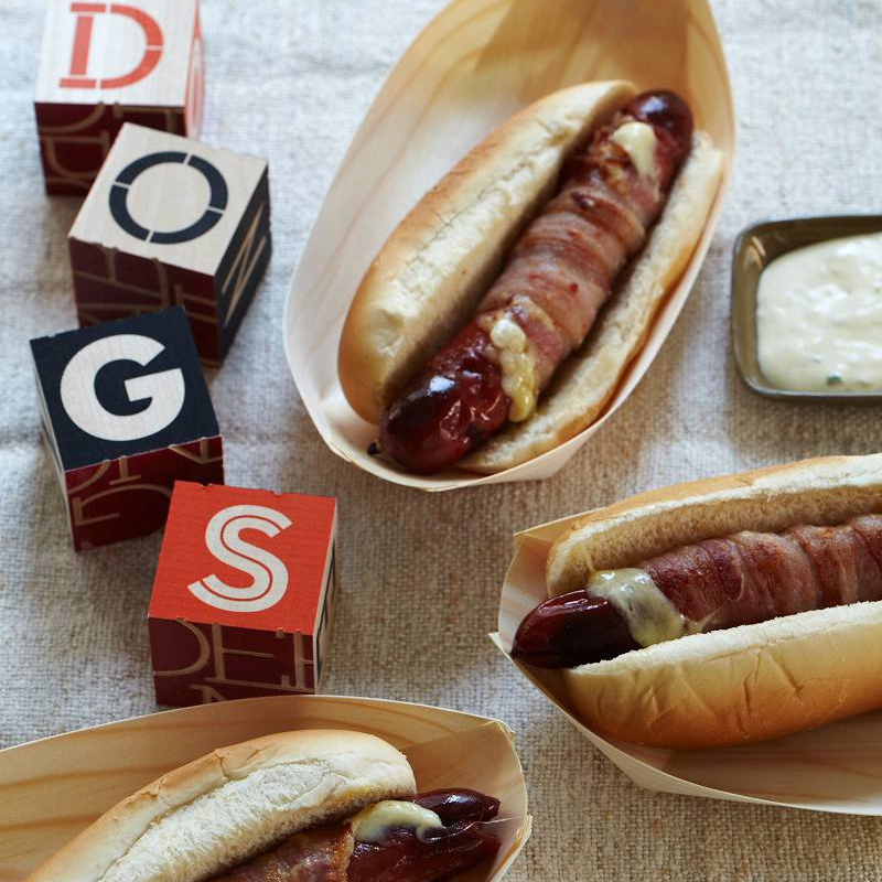 hot dog melts recipe wolfgang puck food wine. Black Bedroom Furniture Sets. Home Design Ideas