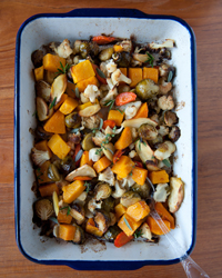 Roasted Vegetables with Fresh Herbs Recipe for Thanksgiving