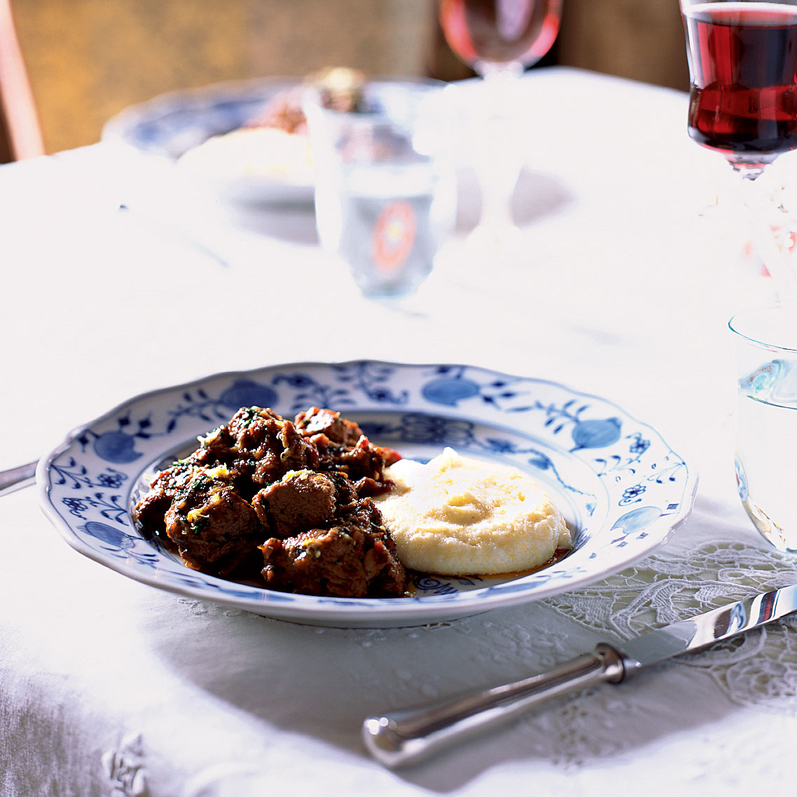 Veal Stew with Rosemary and Lemon