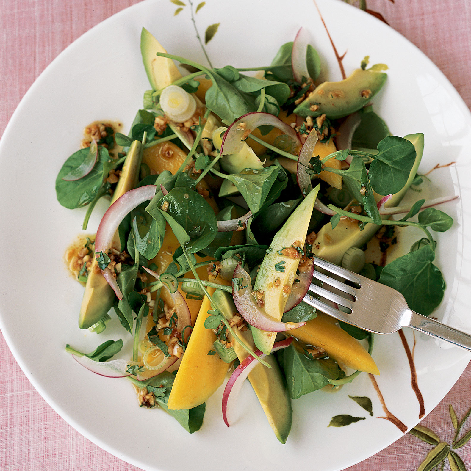 Watercress and Mango Salad with Ginger Dressing