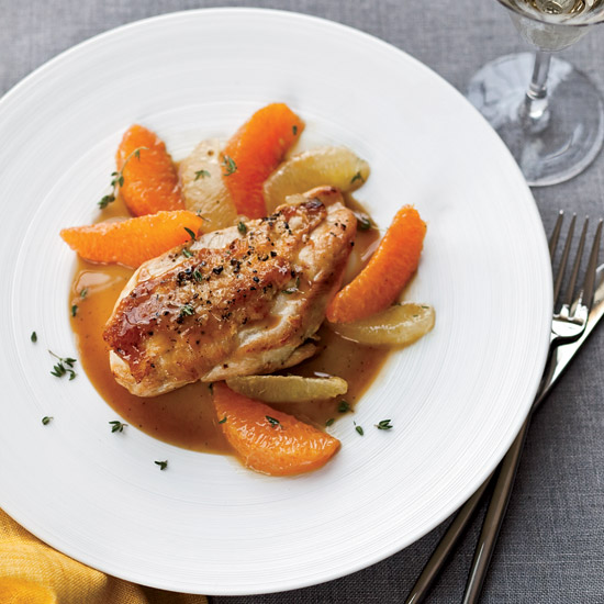 Pan-Roasted Chicken with Citrus Sauce