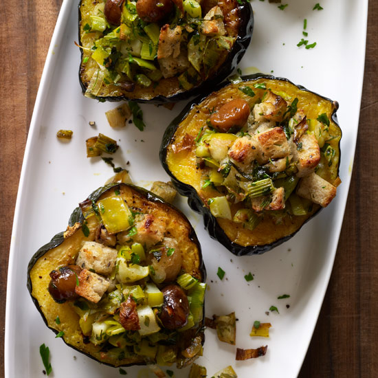 Thanksgiving Vegetable Side Dishes like Roasted Acorn Squash