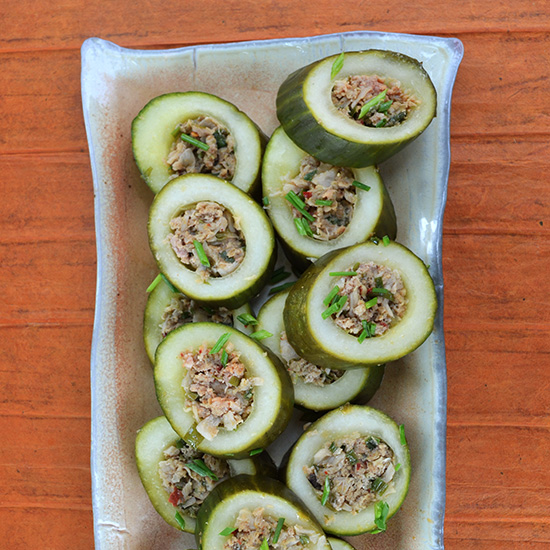 Steamed Cucumbers with Pork and Ginger