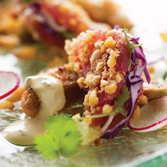 Trey Foshee's Inside-Out Fish Taco