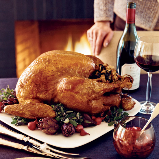 Roasted Stuffed Turkey with-Giblet Gravy