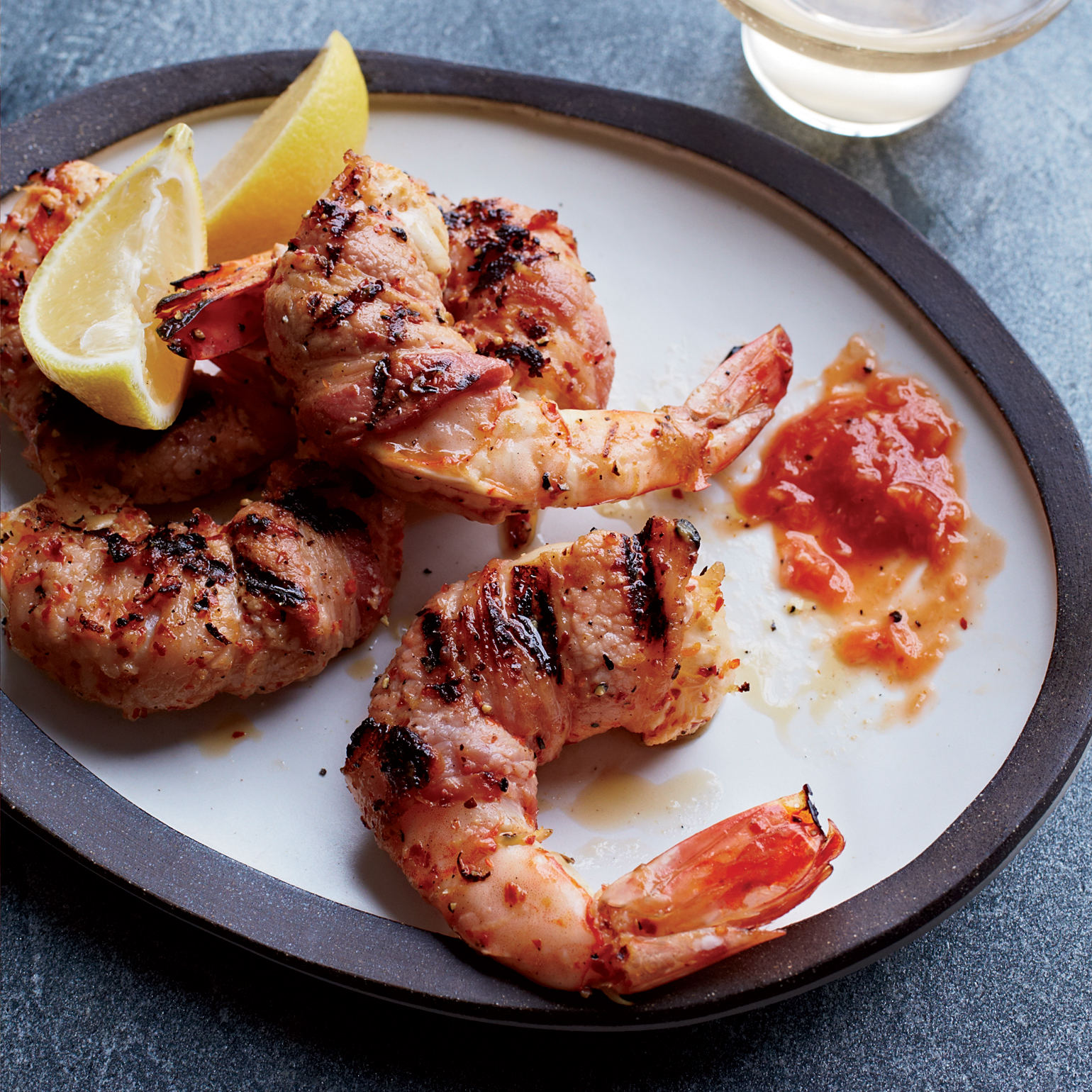 Bacon-Wrapped Shrimp With Cocktail Sauce Recipe