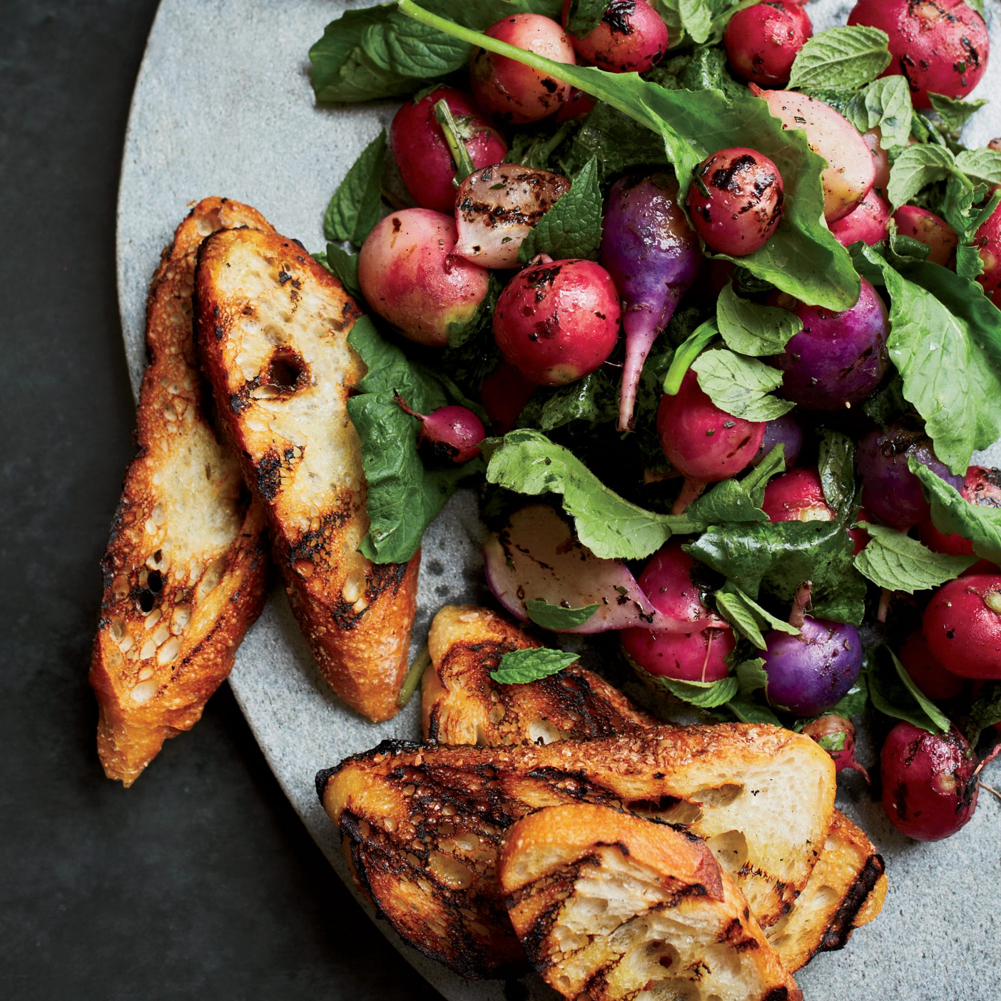 Grilled Radishes with Rosemary Brown Butter