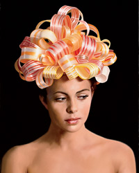 Will Cotton's Food Art: Ribbon Candy Portrait, 2008