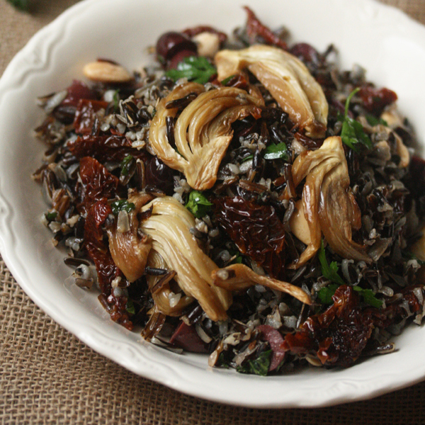 Wild Rice with Roasted Fennel and Sun-Dried Tomatoes