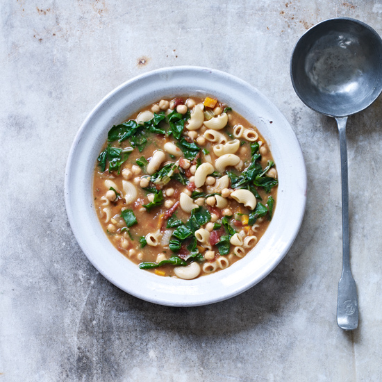 Chickpea Soup with Swiss Chard
